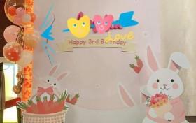 林心如为3岁爱女庆生 布置兔子派对宠溺满满